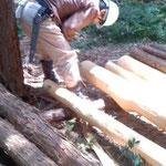 3m定尺に端材をカット