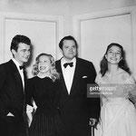 Serge Reggiani, Cécile Aubry, Orson Welles, Anouk Aimée et Michel Auclair