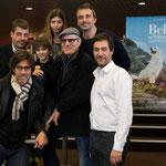 Thierry Neuvic (Pierre), Christian Duguay (réalisateur), Félix Bossuet (Sébastien), Thylane Blondeau (Gabrielle), Tchéky Karyo (César), Gilles Legrand (producteur) et Matthieu Warter (producteur)