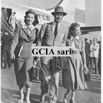 Cécile Aubry, Tyrone Power et sa femme Linda Christian (à gauche)