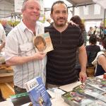 Mehdi au salon du livre de Limoges en juillet 2014