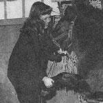 En 1955, avec le poney Barbara au Moulin Bleu