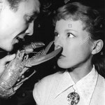 Cécile Aubry et Franco Andrei en août 1954 © alamy