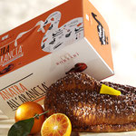 DUCK A L'ORANGE® FILLED WITH  ORANGE CREAM, DECORATED WITH MILK CHOCOLATE AND SUGAR GRAINS (750g)