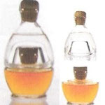 'Ginger & Fred': Composition of two bottles with different Grappa. Re-use at oil-vinegar set 0.2 ltr / 42%
