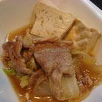 肉豆腐 エネルギー;96㌔㌍  タンパク質;7.2㌘  塩分;0.7㌘