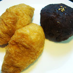 稲荷寿司とおはぎ エネルギー;332㌔㌍ タンパク質;5.3㌘ 塩分;0.8㌘