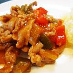 豚肉のケチャップ炒め エネルギー;163㌔㌍  タンパク質;10.1㌘  塩分;0.5㌘
