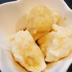 豆腐のみたらし団子風 エネルギー;98㌔㌍  タンパク質;3.0㌘  塩分;0.6㌘