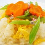 ちらし寿司 エネルギー191㌔㌍ タンパク質3.0g 資質0.8g 塩分0.5g