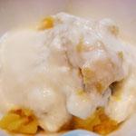 さつま芋のヨーグルトかけ エネルギー;76㌔㌍  タンパク質;1.0㌘  塩分;0㌘