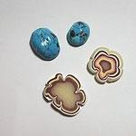 トルコ石とメノウ
