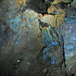 Azurit und ander sekundäre Kupferminerale