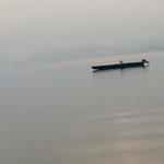 Fischer im Traunsee