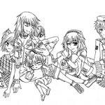 【Kana,Reiku,Riyu,Kaori,Nezumi & Makkura】 by xCloudy