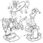 【Reiku,Senji,Asaki & Makkura 】by xCloudy