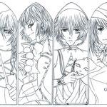 【Hamane, ???, Makkura & Reiku】 by xCloudy