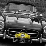 L'élégante Mercedes 300 SL de Jean-Pierre et Julia Tripot.