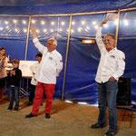 Les deux présidents du Creusekistan Classic, André Génin à gauche et Jean-Paul Renvoizé, peuvent être fiers. Leur Rallye est un véritable succès, l'ambiance y a été fantastique et l'organisation parfaite.