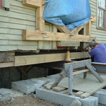 Scott Carlson of Sweetgrass Joinery also conducted partial replacement of the timber sill.