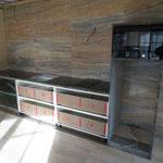 Столешница и шкаф гранит Парадизо
