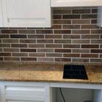 Кухонная столешница с подоконником из гранита Айвари Браун.