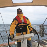 Kalt - windig - sehr unruhige See mit langer Dünung