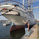 """Das ist die """"Gorchfock 1"""" - sie war ein als Bark getakeltes Segelschulschiff"""