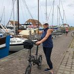 """Unterwegs nach """"Vitte"""", ca. 7 km mit dem Rad. Wir sind ja sportlich"""