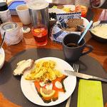 Frühstück an Bord - das wird mir für die nächste Zeit fehlen