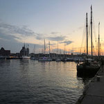 Abend über Stralsund