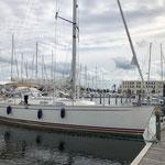 """Liegen am Gästesteg der Marina """"Hohe Düne"""". War als """"Olympia-Stützpunkt"""" geplant. Dazu kam's aber nicht!"""