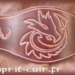 Bracelet en cuir réalisé par Séverine