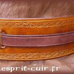 Bracelet de cuir réalisé par Séverine
