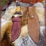 Etui en cuir pour couteau réalisé par Serge