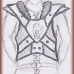 Croquis armure viking réalisé par le Client.