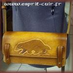Trousse en cuir réalisée par Gaël