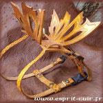 Harnais de cuir réalisé par Séverine