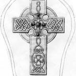 """Croquis """"Croix celtique"""" réalisé par la Cliente."""