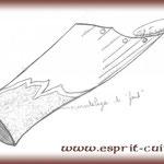 """Croquis d'un canon """"Tourmenteur"""" réalisé par Esprit Cuir."""
