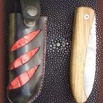 Etui de couteau en cuir