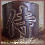 Bracelet en cuir.