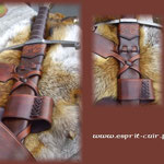 Baudrier en cuir pour épée réalisé par Christophe