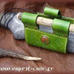 Passant d'épée dorsal en cuir