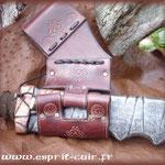 Passant en cuir pour ceinture