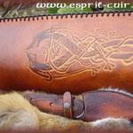 Carquois en cuir réalisé par Bertrand