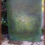 Couvre-livre en cuir réalisé par Gaël