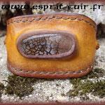 Bracelet en cuir réalisé par Olivier