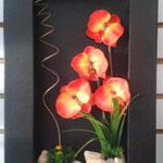Cuadros madera con Flores artificiales