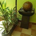 Jardineras Fibra de Vidrio y Fuente para exterior